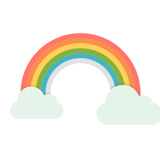 regenboog cartoon